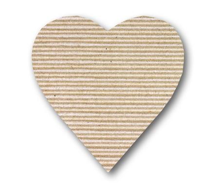 cardboard heart on white background  photo