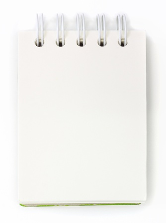 message pad: isolated notebook on white .