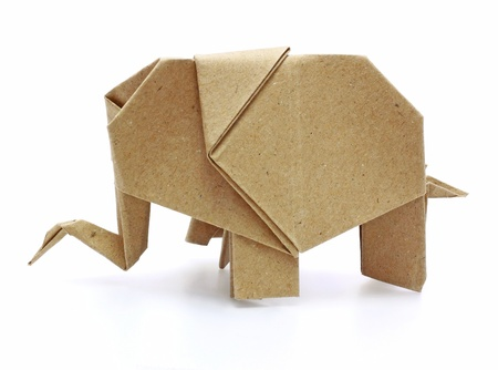 elefant: Origami-Elefanten recycle Papier Lizenzfreie Bilder