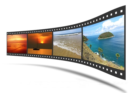 3D film strip with nice pictures  photo