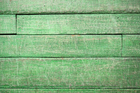 old fence: green vintage wood background