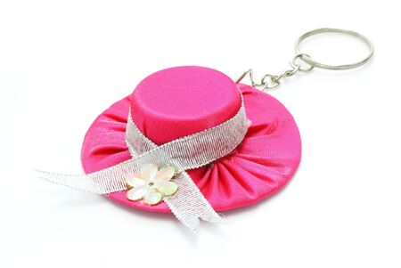 pink hat:  key chain pink hat