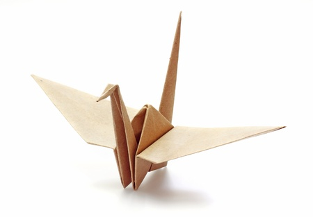Origami Bird made of Recycle Paper  photo