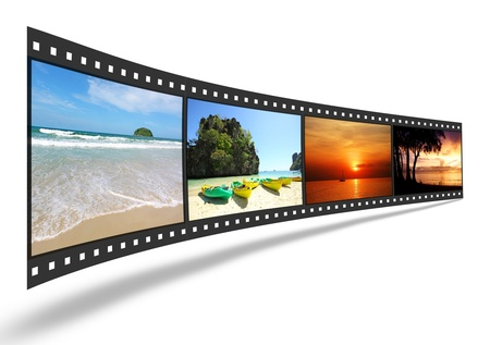 3D film strip with nice pictures of andaman scene photo