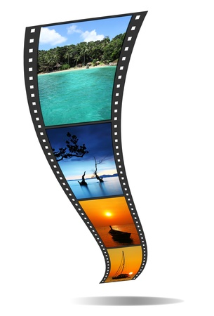 video still: 3D film strip with nice pictures