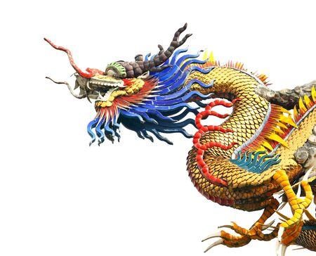 Dragon statue on white background  photo