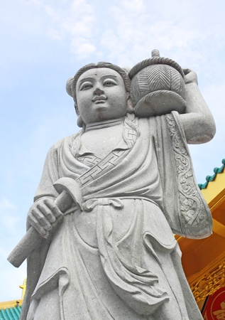 chinese stone statue in phuket photo