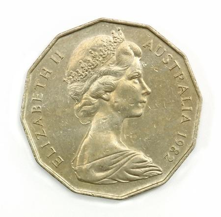 old australia 50 cents coin photo