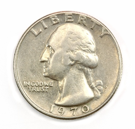 The American coin in twenty five cents photo