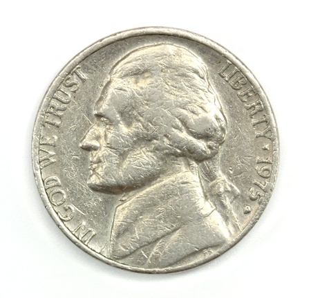 nickel: Five American cents