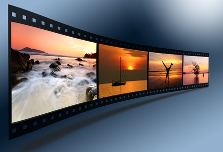film roll: 3D film strip with nice pictures