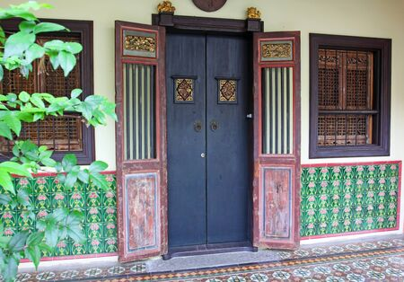 beautiful vintage door, phuket thailand