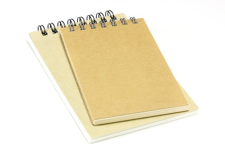 two notebooks on white photo