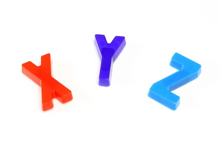 Colorful alphabet x y z  photo