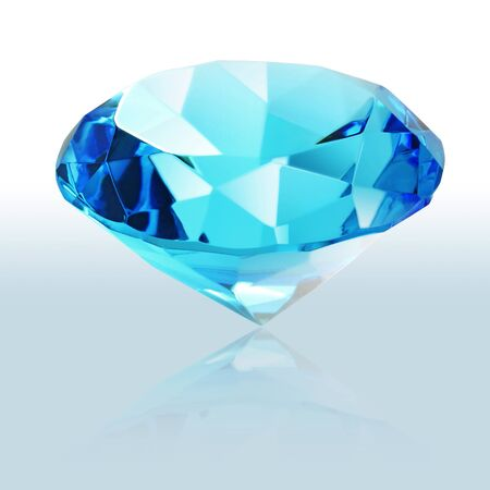 brilliant blue shiny diamond  photo