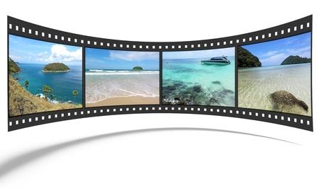 lembo: Striscia di pellicola 3D con belle foto di scena andaman