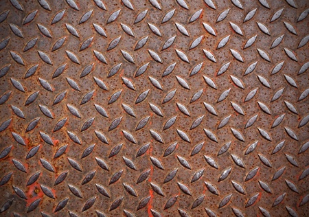 diamond shaped: Grunge metal diamond plate  Stock Photo