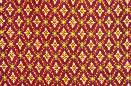 pattern on thai cloth texture of general traditional thai style native  photo