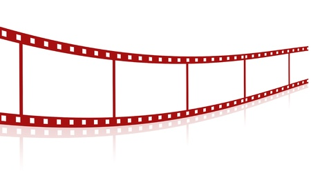 Blank red film strip  photo