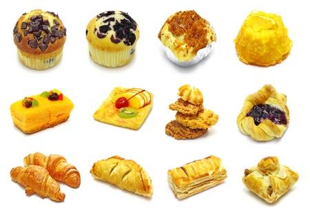 spicecake: colecci�n de pastel en blanco backgroun Foto de archivo