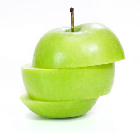 green apple isolated on white Stock Photo - 13385613