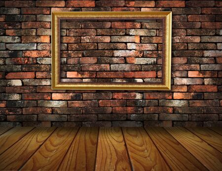 old grunge interior frame against wall Stock Photo - 13565467