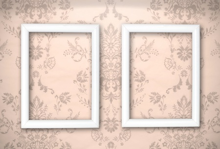 empty frames on the wall  Vintage background Stock Photo - 13562903