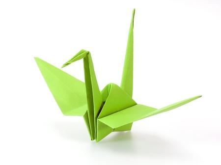 uccello origami: origami della gru Archivio Fotografico