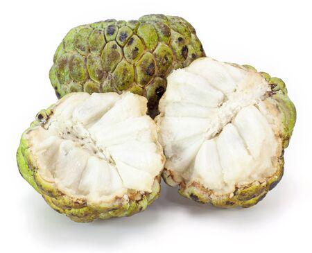 custard apple on white background photo