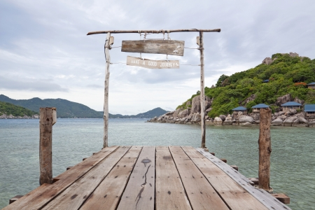 koh: Nang-Yuan Wood Bridge Island at the southern of Thailand