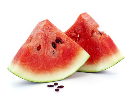 Slice of water-melon on a white background photo