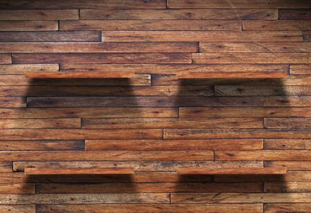 Empty wood shelf on wooden wall Stock Photo - 14456502
