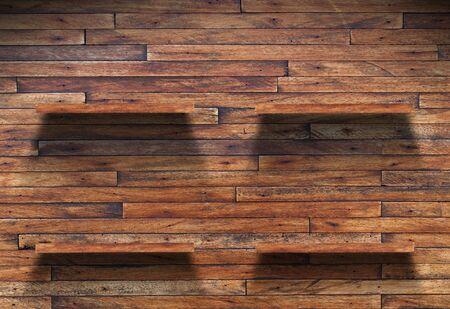 Empty wood shelf on wooden wall Stock Photo - 14456502