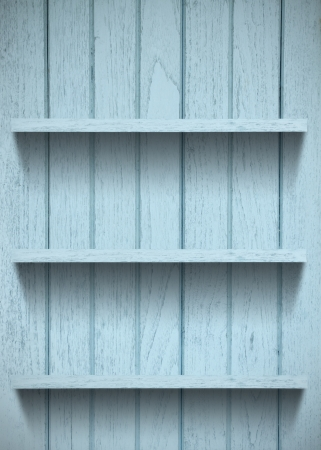 Vintage wood shelf  photo