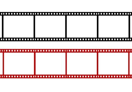 이 빈 빨간색 필름 스트립