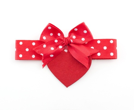 slantwise: red bow with heart shape