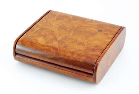 wooden box: wooden box on white background