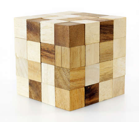 wooden puzzle block game photo