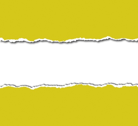 yellow torn paper with white copyspace