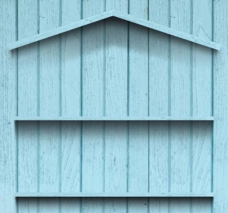 Vintage wood shelf house shape Stock Photo - 15063426