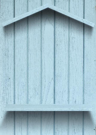Vintage wood shelf house shape Stock Photo - 15063417
