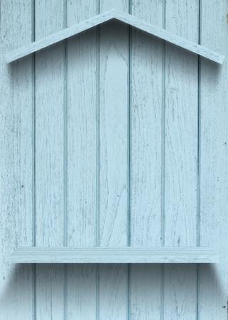 Vintage wood shelf house shape Stock Photo - 15063417