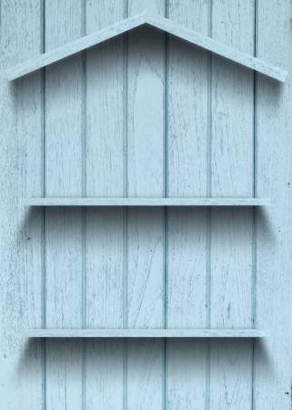 Vintage wood shelf house shape Stock Photo - 15063415