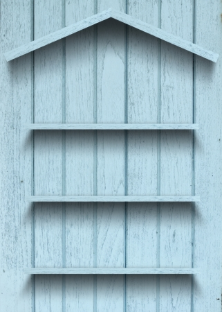 Vintage wood shelf house shape Stock Photo - 15063416