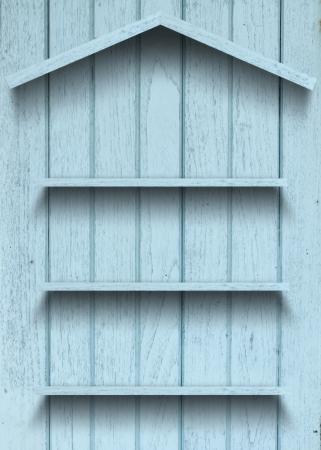 Vintage wood shelf house shape Stock Photo - 15063416