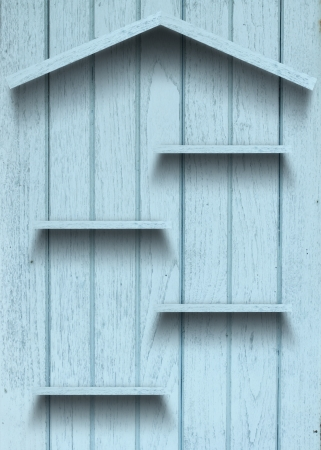 Vintage wood shelf house shape Stock Photo - 15063418