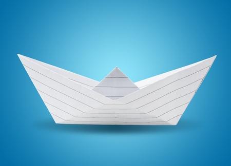 Origami paper ship  photo