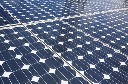 파란색 태양 전지 패널의 배경