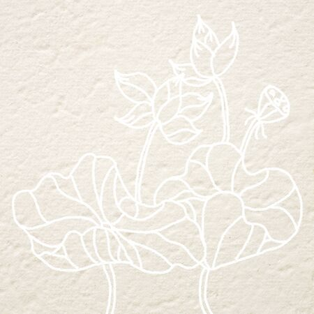 mulberry paper: drawing lotus flower on Mulberry paper