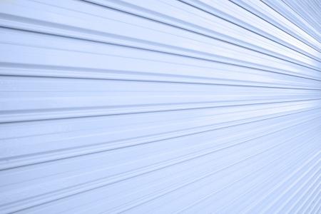 Illuminated  metallic roller shutter door